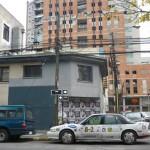 Z tylu inny dom po trzesieniu Concepcion Chile