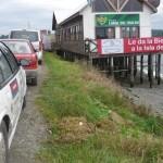 Wyjazd z promu na wyspe Chiloe