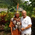 Z szefem plemienia Raja Chirani