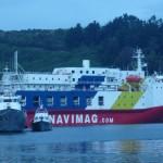 Ferry, plyne do portu Natal