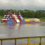 Typowy statek amazonski