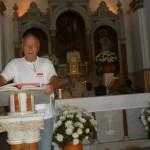 Na spotkaniu z parafianami, Santa Marta